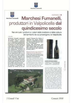 Fumanelli winery, wine producers in the Valpolicella, publication of The Great Wine