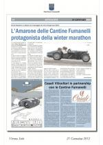 L'Amarone delle Cantine Fumanelli protagonista della winter marathon