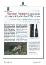 Marchesi Fumanelli, produttori di vino in Valpolicella, pubblicazione su I Grandi Vini